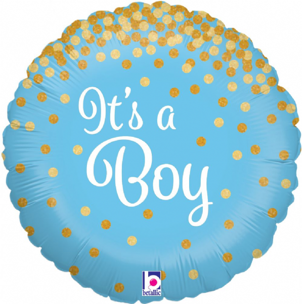 Glittering It's a Boy Holographic Foil Balloon